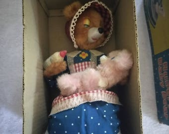 Antique Hungry Baby Bear Electro Toy in Original Box (RARE)
