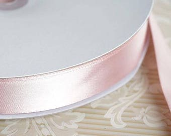 "5 yds Ribbon, Blush Single Face  Satin Ribbon 7/8   ""  Weddings, Bows, Gift Wrap"
