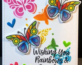 hello, hello card, thinking of you, butterflies, butterfly card