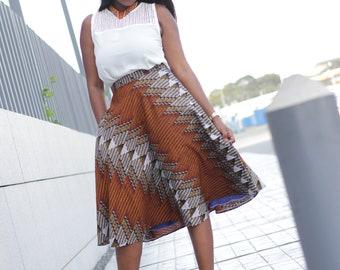 African Print Skirt/ Ankara Skirt / African Print  Skirt/African Skirt/ Ethnic Clothing/ Ketepa