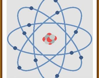 Atom cross stitch pattern chart download pdf /033