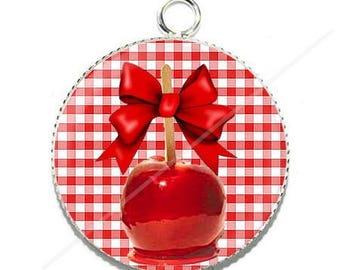 Pendant cabochon resin Apple cherry gourmet chewable 14