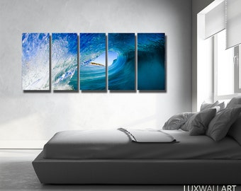 Wave Wall Art Print on Metal