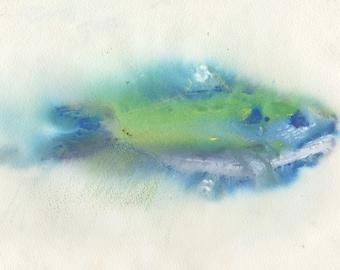 Fish Mono Print