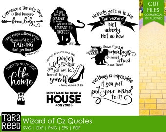 Wizard of Oz svg / Inspirational svg / Motivational svg / quote svg bundle / quote svg / svg files / svg for Cricut / svg for Silhouette