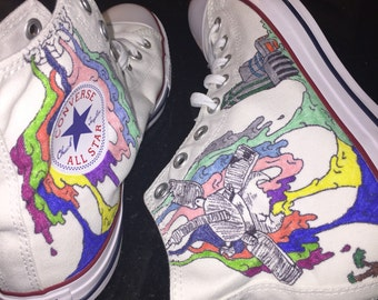 Drippy-Inspired Converse Shoes