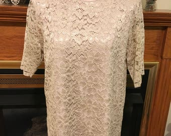 80's lace blouse by yvess st . clair size 8