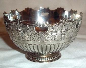 Vintage F. B. Rogers Silver Plate Greek Revival Bowl