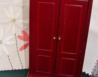 "Wardrobe for Dollhouse, Mini Furniture, Scale 1"" = 1', or  1/12"