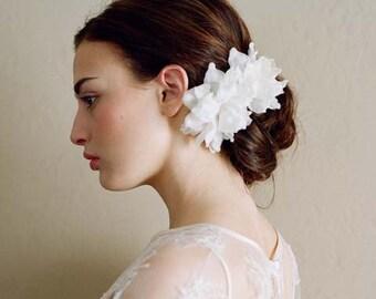 Bridal silk flowers - Silk blossom pair, medium - Style 201 - Ready to Ship