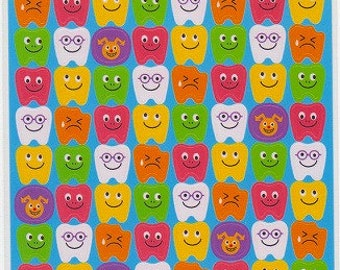 Tooth Stickers- Teeth Stickers - Dentist Stickers - Reference C3810-11C5973-74