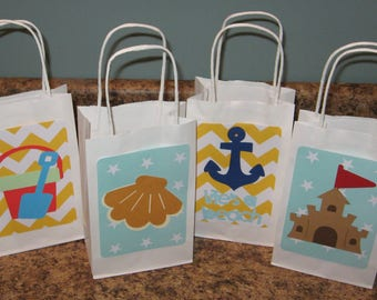 Beach Party Gift Bags - Set of 12