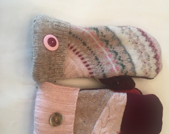 Wool Mittens from up cycled wool sweaters