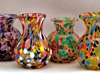 Hand blown Glass Child's Vase II Mothers Day Baby Shower Grandparent Gift