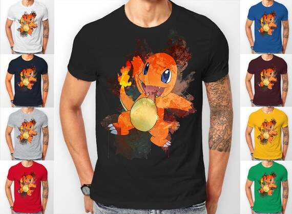 Pokemon  Charmander starter's catch 'em all Tee shirt T-Shirt
