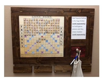 Magnetic Scrabble Words With Friends Board - Wall Mounted  - Free Shipping
