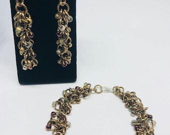 Morning Coffee Beaded Earrings & Bracelet Set