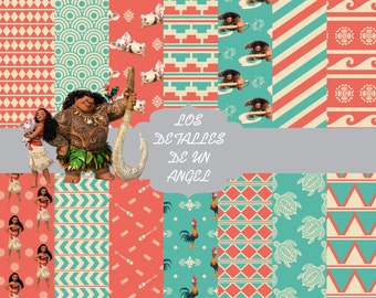 Moana - Vaiana digital paper kit download snapshot / Moana - Vaiana digital paper kit download snapshot