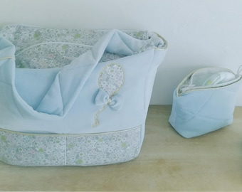 large diaper 5 pockets and its matching pouch bag