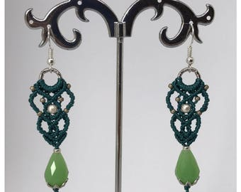 Florence earrings - micro macrame