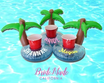 Personalized Drink Floats, Tropical Beverage Boats, Pool float, Palm Tree Float, Bridesmaid gift, Bachelorette Gift, Pool Decor, Pool Party