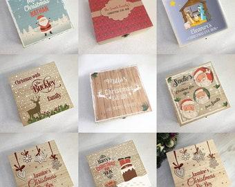 Beautiful Printed Square Christmas Eve Box