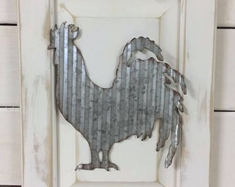 Farmhouse Rooster Decor / Rustic Kitchen Wall Hanging / Farm Living / Farmhouse Sign / Cottage Kitchen