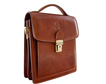 Leather briefcase mens small, Leather bag, Leather messenger bag mens, Leather shoulder bag, Leather satchel - Walden