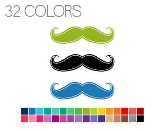 Mustache Clip Art - Moustache Clipart - Manly Clip Art - Instant Download - Commercial Use