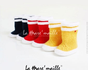 The Mare woolen baby rain boots ' stitch tribute to the Eagle brand, inspired by the model Lolly Pop