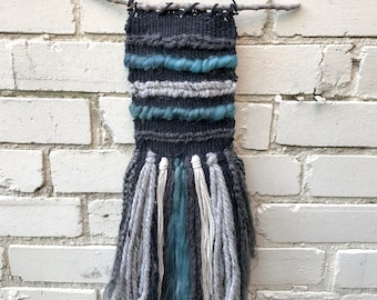 Black and teal weaving