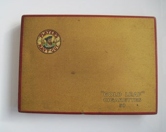 Players Gold Leaf cigarette tin (50/empty) c.1950/60