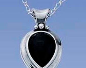 Cremation Ash Jewelry sterling silver Pear  pendant Pet Memorial