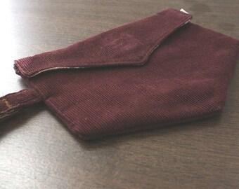 SALE- westie wristlet - maroon