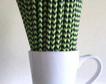 Green and Black Chevron Cakepop sticks