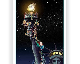 Statue of Liberty Funny Christmas Cards - 18 Cards & Envelopes - New York City - 90005