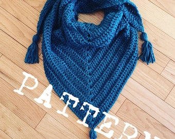 The BRIDLEWOOD Triangle Scarf CROCHET PATTERN