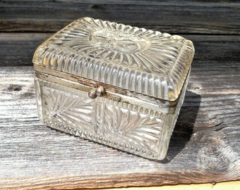 Vintage glass box