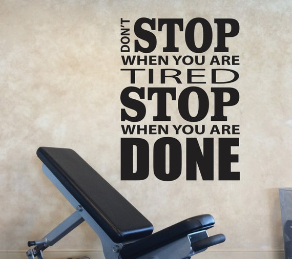 Home Gym Designs For Walls: Home Gym Design Vinyl Wall Decal Motivation. Don't Stop