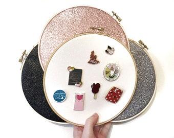 PRE ORDER! Glitter hoop pin board