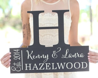 Personalized Family Sign Wedding Christmas Holiday Bridal Shower Gift  (Item Number MHD20035)