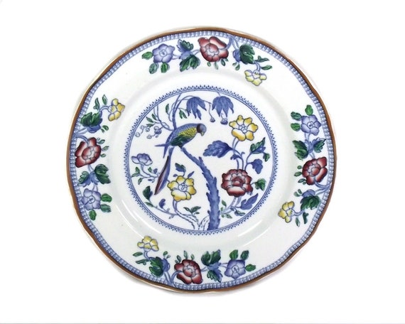 Vintage Blue and White Chinoiserie Plate by Booths England