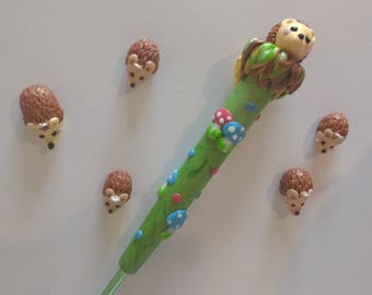 Hedgehog ergoomic crochet hook.
