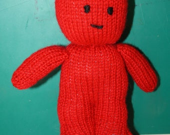 hand knitted jelly baby