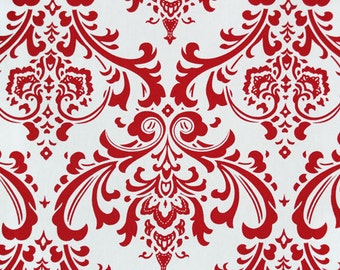 Premier Prints 28 inches Traditions Red and White Damask Home Decor Weight Fabric  - Same Day Shipping