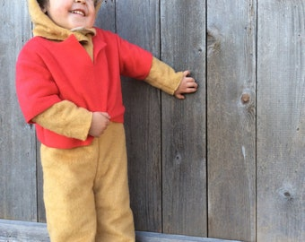 Winnie The Pooh Halloween Costume Classic Kids Book Character Costume for Boys Girls Toddler Children Unisex Pooh Bear  sc 1 st  Etsy : pooh bear and piglet costumes  - Germanpascual.Com