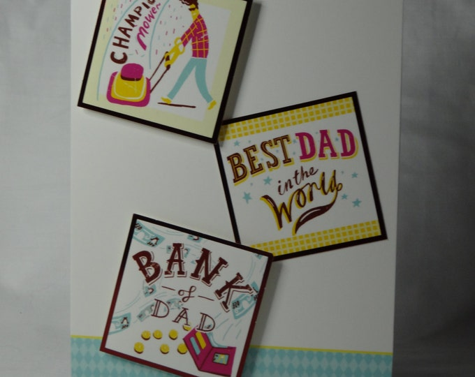 Fathers Day card, Greeting card, modern card, suitable for any age, Dad, Father, Grandad