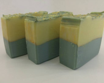 Pineapple Cilantro cold process soap | Handcrafted Artisan soap