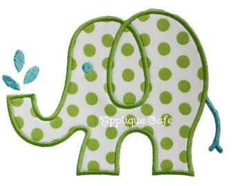 614 Elephant Machine Embroidery Applique Design