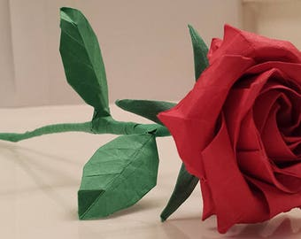 Origami flowers etsy origami rose paper rose origami flower anniversary valentines day mothers day mightylinksfo